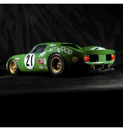 1/12 Ferrari 250 LM # 21Piper Le Mans 1968 - Modèle monté au 1/12 en résine et détails en pièces photodécoupées. Série limitée. Création artisanale.