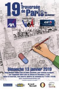 L'Affiche de la Traversée hivernale de Paris