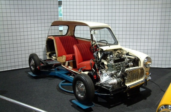 Mini rare présentée par Haynes International Motor Museum