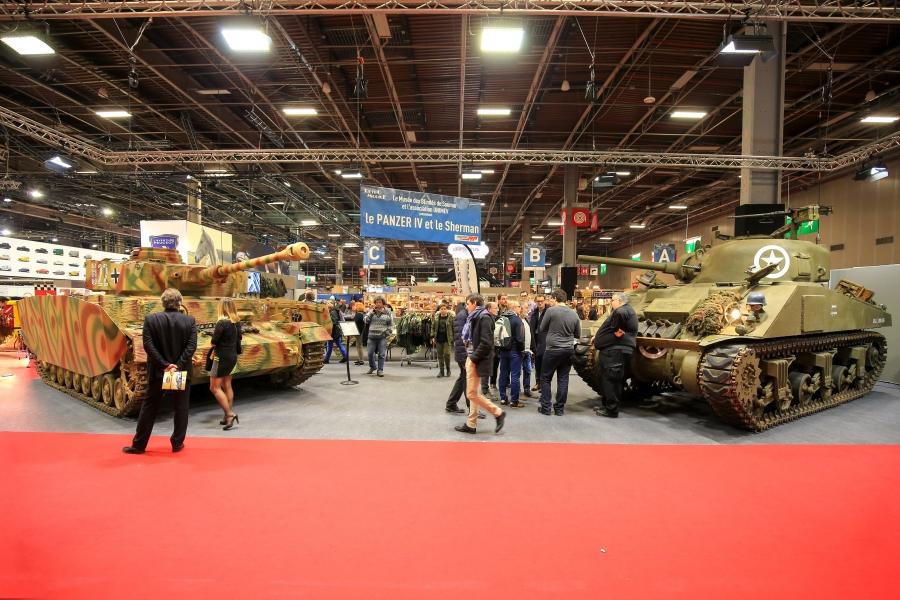 Musée des blindés de Saumur, Sherman et Panzer IV