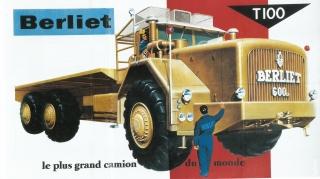 Affiche du T100, le plus grand camion du monde, Berliet