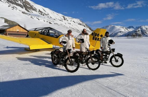 Les «3 Mecs en Tobec», bien arrivés à l'Alpe d'Huez, le 8 février à 16h50