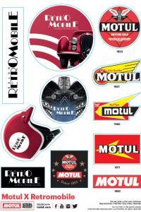 Stickers Rétromobile - Motul