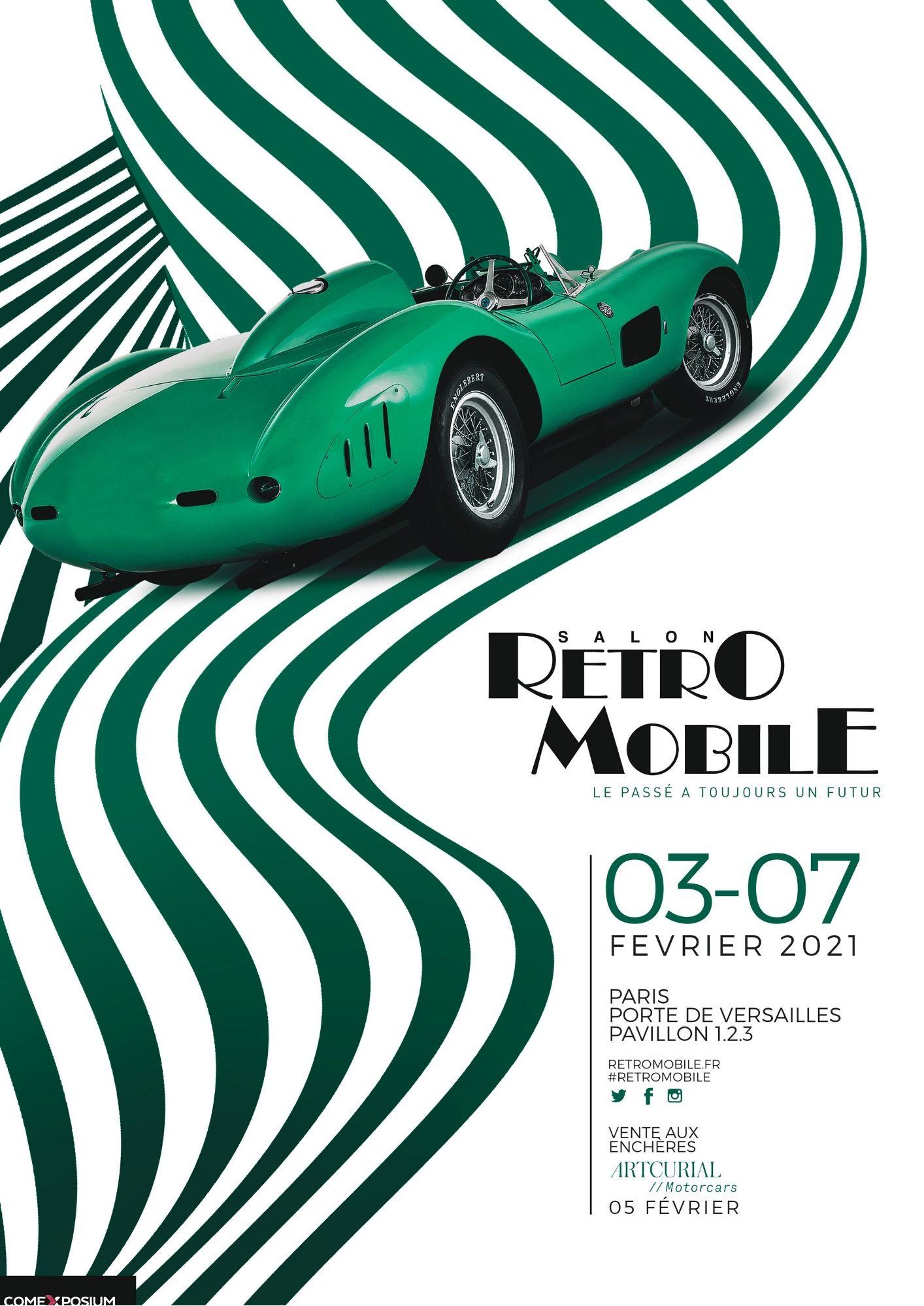 Affiche Rétromobile 2021 Ferrari