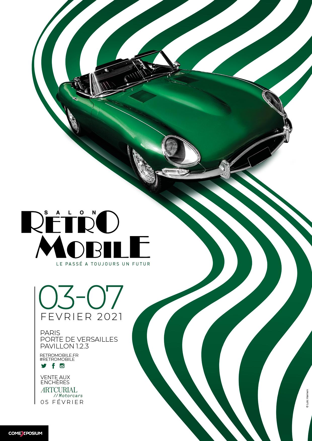 Affiche Rétromobile 2021 Jaguar