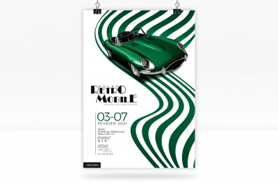 Affiche boutique Retromobile