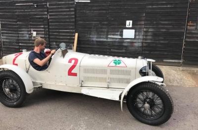 L'Alfa Romeo Monza de l'ancien pilote Allemand Rudolf Carraciolla